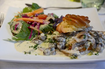Plat restaurant la Grange aux fleurs